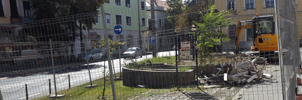 Közösségi terek fejlesztése Sátoraljaújhely Táncsics téren